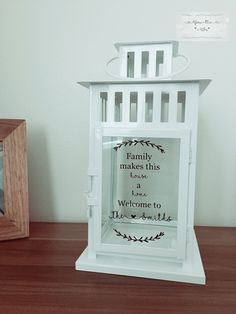 Personalised Welcome Lantern Rememberance Lantern Memorial Paper Lanterns, Lanterns Decor, Christmas Crafts For Gifts, Christmas Ideas, Christmas Lanterns, Christmas Ornaments, Christmas Text, Personalized Family Gifts, Presents For Mum