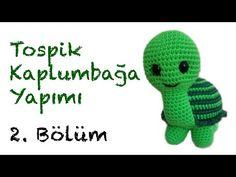 Amigurumi Tospik Kaplumbağa Yapımı - Bölüm 2: Baş - YouTube Dinosaur Stuffed Animal, Crochet Hats, Kawaii, Make It Yourself, Toys, Youtube, Animals, Amigurumi, Turtles