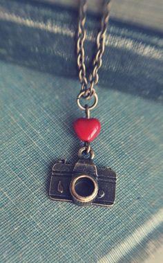 I heart my camera necklace