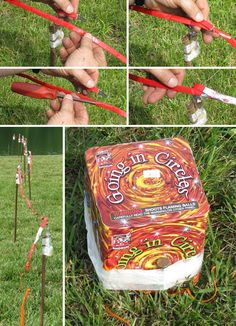 How to set up a firework display: Quickmatching a Strobe Line, and Anchoring Cakes with Barn Spikes