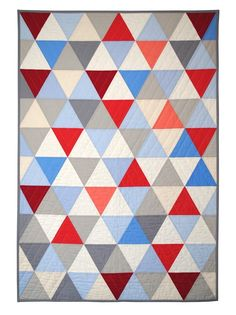 can't get enough of triangle quilts