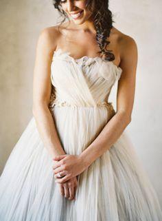 Linen coloured wedding dress