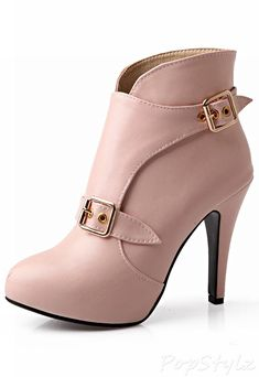 Carol Shoes Western Buckle Stiletto Ankle Boot