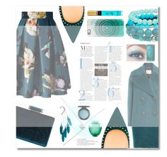 """Fall on Teal"" by zafiaida on Polyvore featuring Chicwish, Boohoo, By Malene Birger, Casetify, Anni Jürgenson, MAC Cosmetics, Arthur Court Designs and thiscolor"
