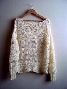 SALE! Lightweight Loose Knit Sweater Summer Sweater Festival Top   #Handmade #Unspecified
