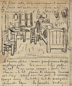 A page of Vincent van Gogh's sketchbook.