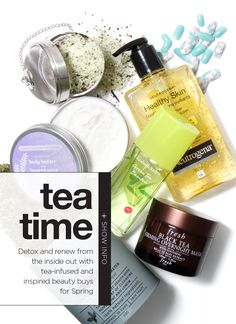 As a tea addict, I can totally get behind incorporating a bit of my favorite drink into my beauty products!