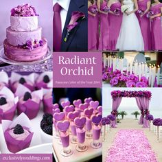 Navy and Orchid...these colors are perfect mixed with a little beige