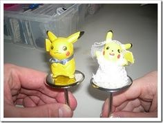 Pikachu Wedding Cake Topper. This is crazy!