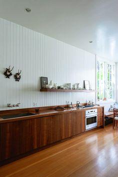 Standout wood galley kitchen in SF belonging to fashion designer Dagmar Daley, Matthew-Williams-photo | Remodelista