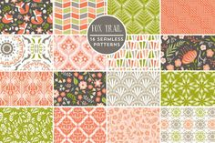 Fox Trail Seamless Backgrounds by Cocoa Mint on @creativemarket
