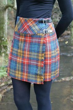 Our tweed billie skirts are all made in Scotland from wool. They are cotton lined at the waist for added comfort and come with a standard chrome kilt pin. Length is approximately 17 inches. Available in Antique Buchanan (shown) and Antique Black Wa Plaid Skirts, Cute Skirts, Modest Fashion, Fashion Outfits, Fashion Trends, Hijab Fashion, Tartan Fashion, 70s Fashion, Fashion Images