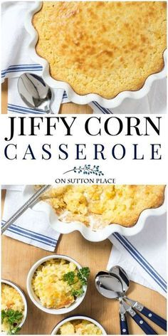 Make this easy Jiffy Cornbread Mix Corn Casserole Recipe for family gatherings and holidays. Quick and easy side dish. Thanksgiving side dish idea. #thanksgiving #thanksgivingmenu