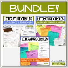 Do you use literature circles or book clubs in your classroom? Then this BUNDLE of 3 resources is EVERYTHING you'll need!