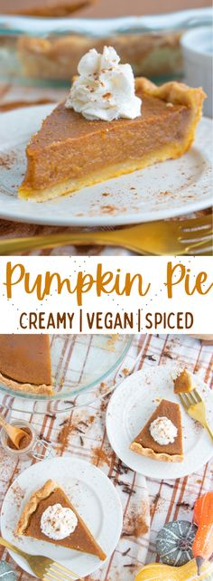 The best ever vegan pumpkin pie recipe made with coconut milk and plenty of comforting spices. Rich, creamy and so easy to make! #veganpie #veganpumpkinpie #vegandesserts Easy Pumpkin Pie, Vegan Pumpkin Pie, Pumpkin Pie Recipes, Pumpkin Dessert, Eggless Pumpkin Pie Recipe, Pumpkin Spice, Dairy Free Pumpkin Pie, Pumpkin Curry, Vegan Pie