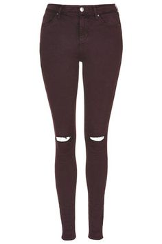 @topshop MOTO Ripped Aubergine Leigh Jeans