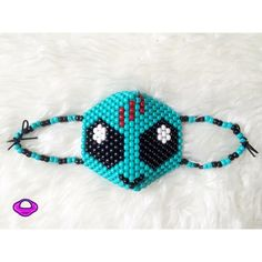 Kandi Alien Mask Skrillex Alien Rave EDM EDM EDC RAVE KANDI Skrillex Alien Customizable Kandi Mask Custom Kandk Cuff Emoji EDM Glow Wear Neon Rave Gear Kandi Alien Space Accessory Cosplay Choker EDC ✨ Cheaper shipping & 20% off only on Planetplur.etsy.com ✨ ❌NO TRADES, NO EXCEPTIONS❌ This is a custom handmade piece by Brittany Rey. Colors and size can be changed. Comment if you have any questions! Follow for more coupons: IG: @PlanetPlurOfficial Facebook: Facebook.com/PlanetPlur Planet Plur…