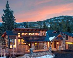 Creative Mountain Home Exterior with Inspiring Ideas: Awesome Mountain Homes Exteriors Evening View Small Porch ~ SQUAR ESTATE Exterior Inspiration