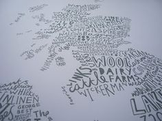 Scotland map in words...