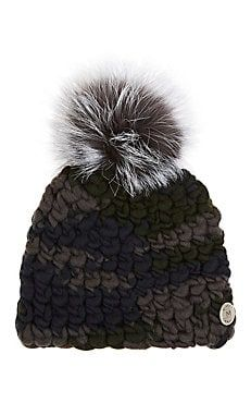 Pomster Fur-Embellished Wool Beanie