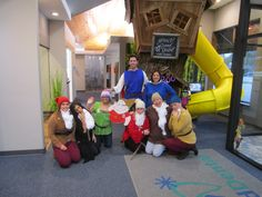 Grand Dental Lake Zurich- Snow White & Prince Charming along with the seven dwarfs wishes everyone a Happy and Safe Halloween!