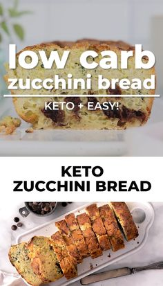*NEW* Sweet, fluffy, super moist, and chocolatey, this low carb zucchini bread almond flour will make you love vegetables! #lowcarbzucchinibread #ketozucchinibread #lowcarbbread #ketobread #glutenfreebread #lowcarbdessert #ketodessert #lowcarbdesserts #ketodesserts #sugarfreedesserts Low Carb Zucchini Bread, Keto Bread, Low Carb Desserts, Low Carb Recipes, Sugar Free Chocolate Chips, Low Carbohydrate Diet, Sugar Free Recipes, Low Carb Keto, Bellisima