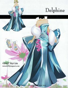 Barbie Fashion Collection Delphine Paper Doll by Siyi Lin Barbie Paper Dolls, Vintage Paper Dolls, Diy Paper, Paper Art, Paper Crafts, Paper Dolls Printable, Paper Models, Paper Toys, Diy Doll
