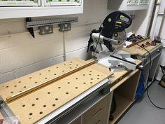 The profitable Business of Carpentry - - Garry Martin ( Festool Kapex Ks 120, Festool Tools, Tool Workbench, Woodworking Workshop, Woodworking Wood, Woodworking Projects, Mitersaw Station, Workshop Organization, Workshop Ideas