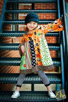 Custom Boutique Halloween Hoodie dress DillyDally. $58.00, via Etsy. Love this