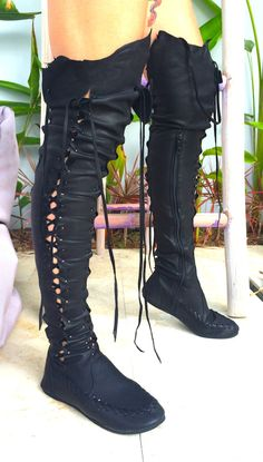 Tall Leather Boots – Black Over The Knee High Boots | Gipsy Dharma