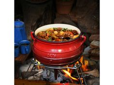If you are looking for something a little different from the standard black potjie pot, this colourful enamel alternative is sure to brighten up your braai area Enamel, Beef, Color, Meat, Vitreous Enamel, Colour, Enamels, Tooth Enamel, Glaze