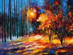 Shadows on Snow — PALETTE KNIFE Oil Painting on AfremovArtStudio , $339.00