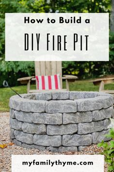 Transform your outdoor space with this complete tutorial on how to build your own DIY fire pit. This easy and inexpensive outdoor DIY project will bring years of enjoyment.   #diy #firepit #outdoorliving #outdoorspaces #diyfirepit #seasonal
