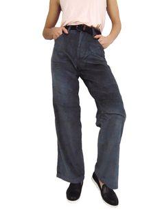 Womens Wide Leg Grey High Waist Vintage Corduroy Trousers Pants 8 10 12 14 16 #StreetSpirit #Corduroy