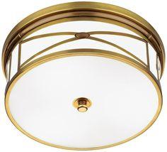 "Robert Abbey Chase Brass 15"" Wide Flushmount Ceiling Light -"