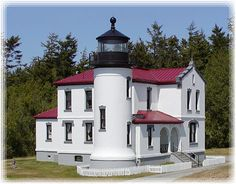 Admiralty Head Lighthouse, Whidbey Island, WA by lbgerstel Lighthouse Lighting, Lighthouse Photos, Beacon Lighting, Beacon Of Light, Whidbey Island Washington, Light Of The World, Around The Worlds, Lights, Western Washington