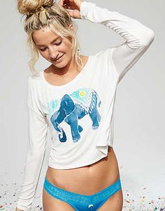 Aerie Real Soft® Graphic T-Shirt, Soft Muslin | Aerie for American Eagle