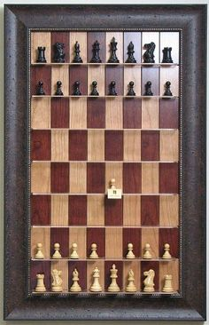 Amazon.com: Straight Up Chess - Red Cherry Chessboard with Walnut Scoop Frame: Sports & Outdoors