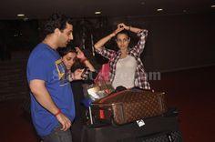Ameesha Patel Spotted At Mumbai Airport   StarsCraze