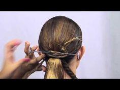 Tutorial: Cómo hacer un moño de fallera natural (by Cyntia Cuartero) - Realce Alta Posticería - YouTube