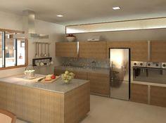 Cozinha com ilha : Cozinhas modernas por Patrícia Alvarenga