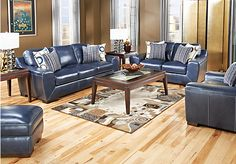 Best Navy Blue Leather Sectional Sofa Home Furniture Design 400 x 300