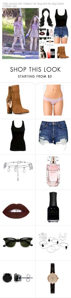 """""""Walk around with Holland, her dog and my dog Derek"""" by myllenna-malik ❤ liked on Polyvore featuring Aquazzura, Forever 21, WALL, Topshop, New Look, Elie Saab, Christian Dior, L.A. Girl, ORLY and BERRICLE"""