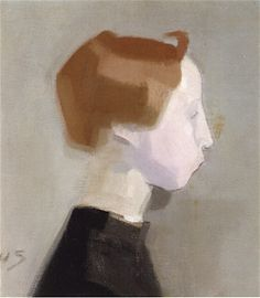 Helene Schjerfbeck - Head of a Girl Crocheting - Helene Schjerfbeck, Portrait Art, Portraits, Beautiful Sketches, Historical Art, Portrait Illustration, Figure Painting, Figurative Art, Latina
