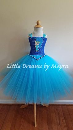 Shimmer and Shine inspired tutu dress and matching headpiece, Shimmer and shine birthday party inspired outfit size nb to 14years