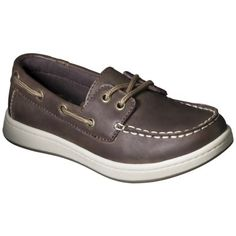 Boy's Cherokee® Fitz Genuine Leather Boat Shoes - Brown