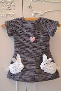 Häkelanleitung Kleid Verliebte Hasen - Häkelanleitungen bei Makerist