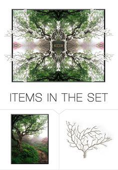 """""""Mystical Forest"""" by capricat ❤ liked on Polyvore featuring art"""