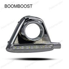 BOOMBOOST 2 PCS 12V led car drl daytime running lights fog lamp hole for Mazda CX 5 2011-2015 Turn Signal LAMP #Affiliate