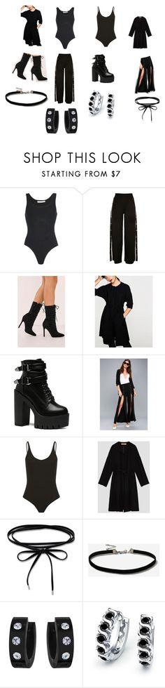 """""""Magic Black"""" by junie-matt2 on Polyvore featuring Wanda Nylon, Dance & Marvel, Topshop, West Coast Jewelry and Bling Jewelry"""